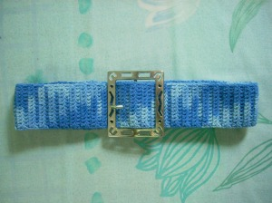 Blue Crochet Belt