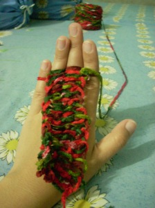 Finger Knitting 3